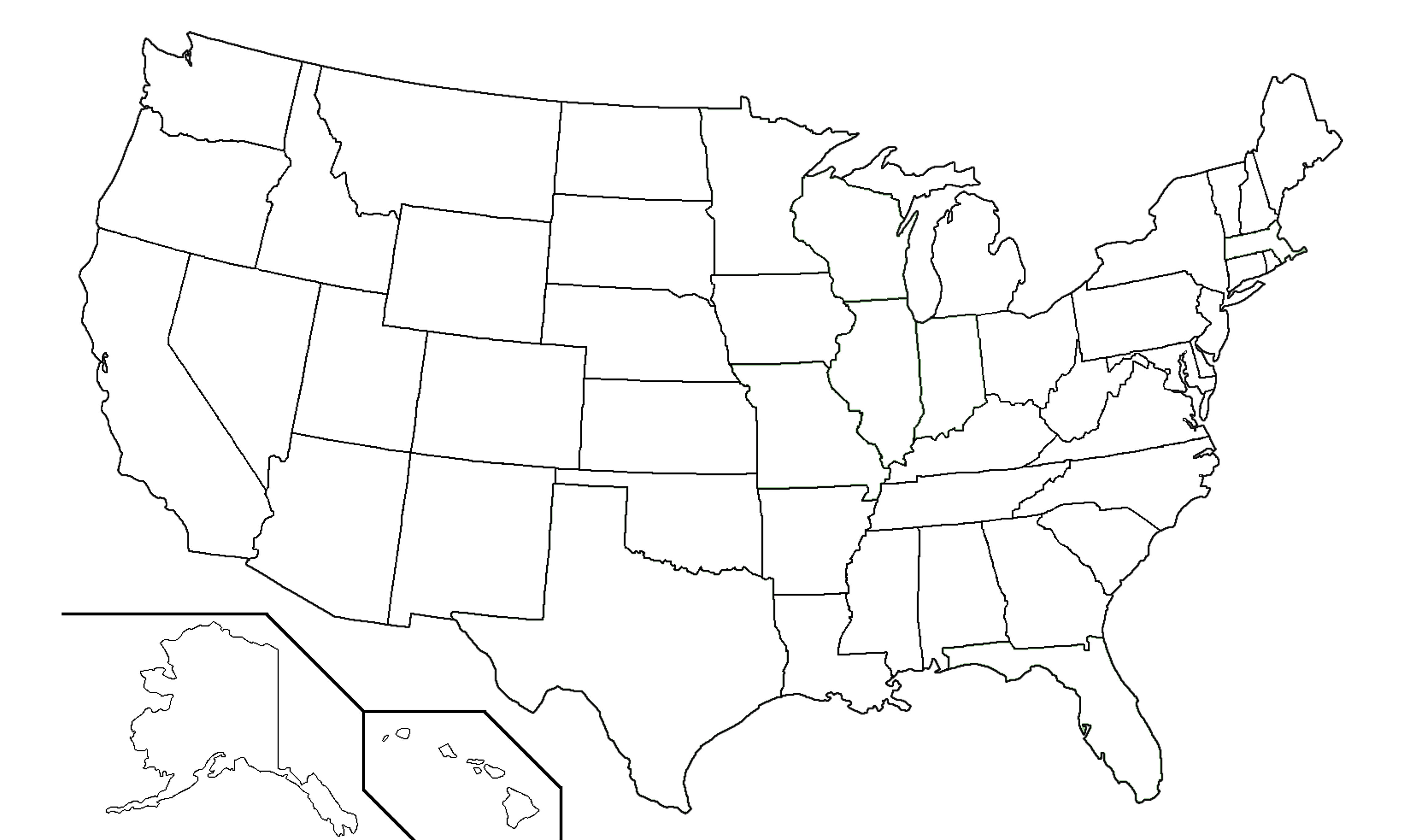 Geography Blog Printable United States Maps - Blank usa map