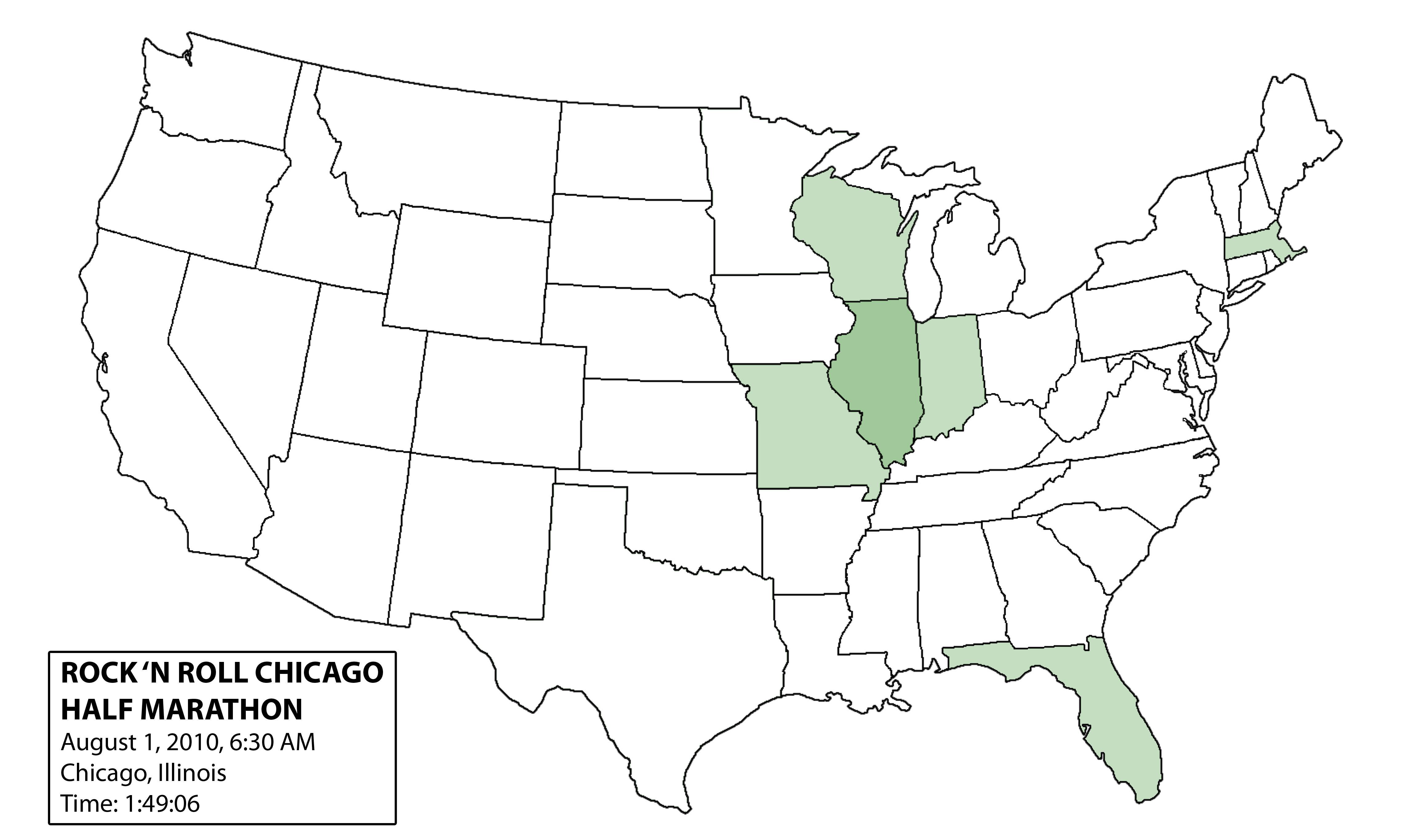 November  Dans Marathon - Chicago marathon map
