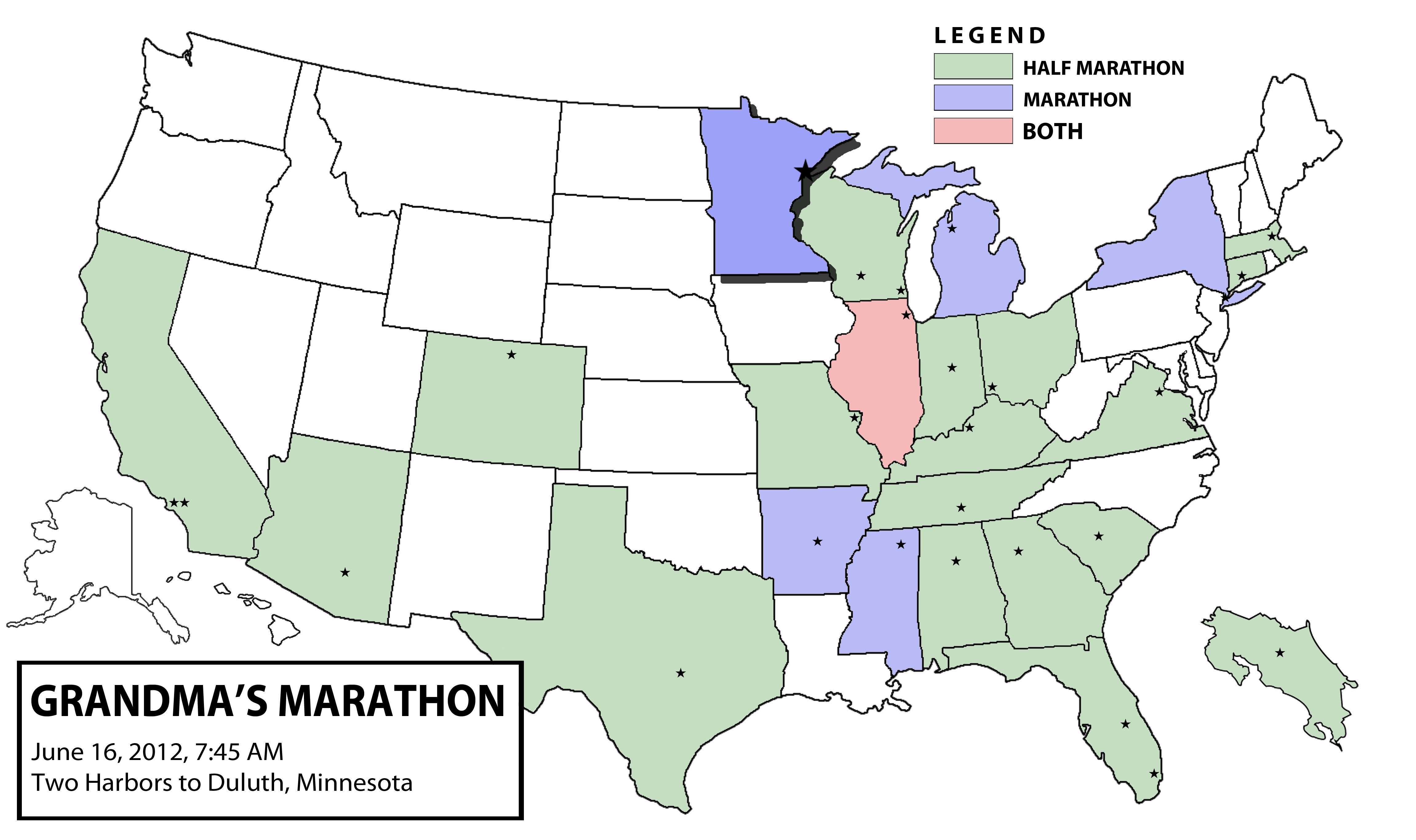 Grandma's+Marat... Grandma's Marathon Course Map