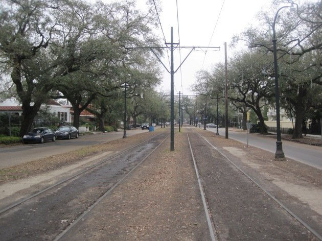 St. Charles Avenue without runners