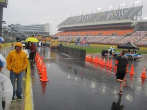The rain-soaked finish