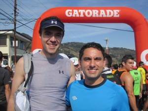 Chori and I at the start