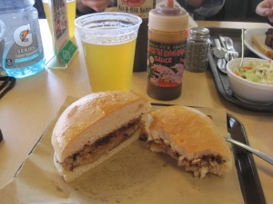 Delicious BBQ and a Boulevard Wheat from Oklahoma Joe's