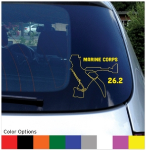 runskin Marine Corps Marathon car sticker