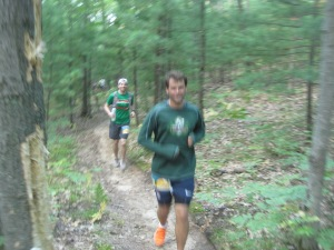Otter & Chris running the flats