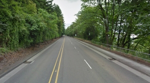 The lead-up to the St. Johns Bridge (Google Streetview)