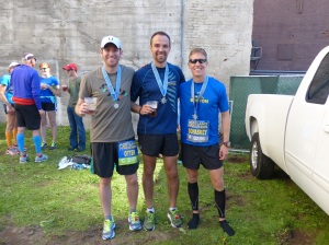 Medals and Beer, earned at the finish line