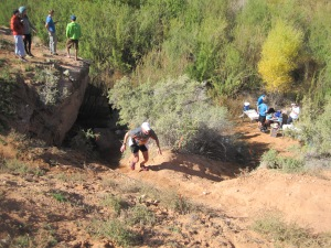 Jim on the final scramble to the finish line