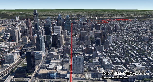 philadelphia-marathon-downtown-google-earth-map