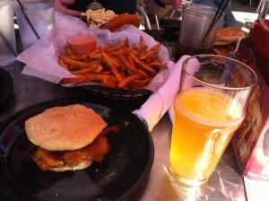 """Zombie Burger's """"Planet Terror"""" after the IMT Des Moines Marathon"""
