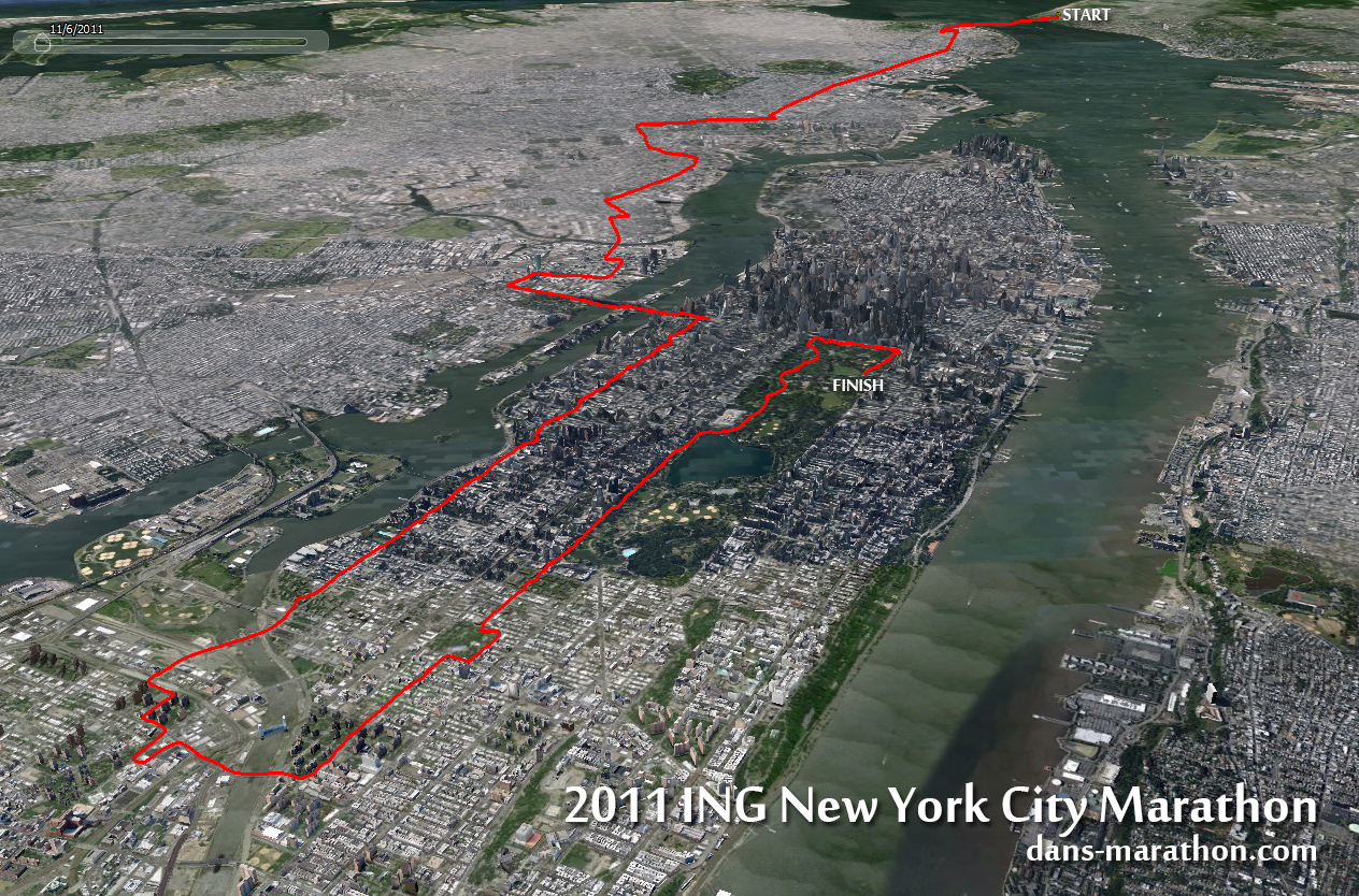 New York City Dans Marathon - New york city map google