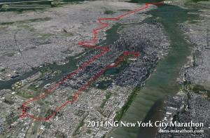 New York Marathon Google Earth Rendering