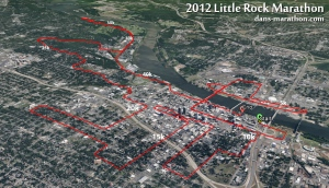 Little Rock Marathon Google Earth Rendering