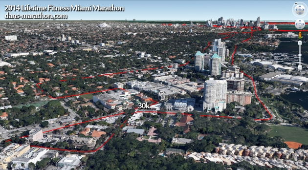 2014 Miami Marathon (the second half) Rendering (via Google Earth)