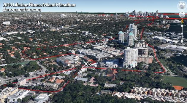 2014 Miami Marathon (the second half) Rendering (via Google Earth)