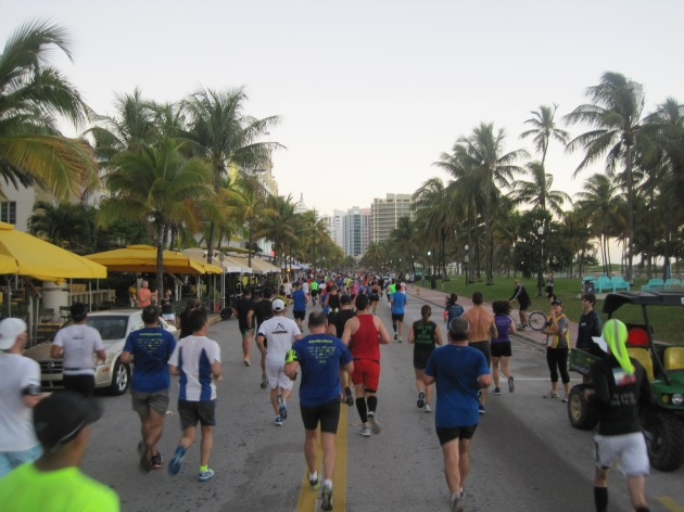 4. The northward stretch on Ocean Drive single-handedly embodies Miami and the reason this race is so popular.  Classic hotels and restaurants face the open sea, with many spectators out, making noise.