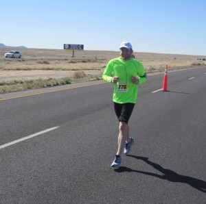 Ryan 10/13 of the way through his debut half marathon