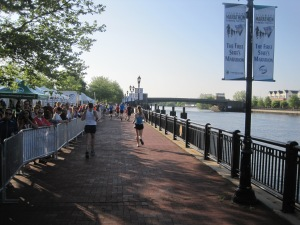 Miles 3 and 16, by the Riverfront