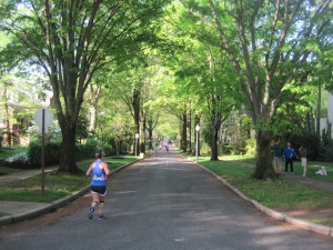 Miles 9 and 22, through Wilmington neighborhoods