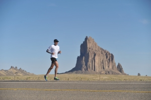 In the middle of the desert, with miles to run, it wasn't difficult to