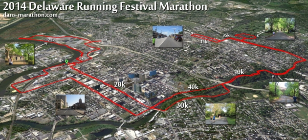 2014 Delaware Marathon Google Earth Rendering