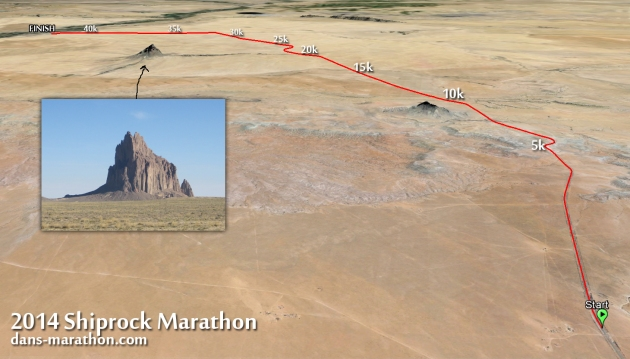 2014 Shiprock Marathon Google Earth Rendering