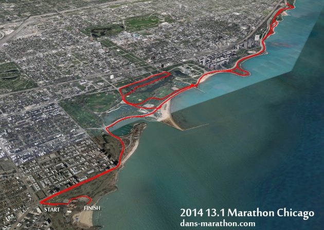 2014 13.1 Marathon Chicago Google Earth Rendering