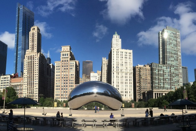 Chicago's Cloud Gate (more affectionately known as the Bean), the inspiration for this year's medal