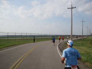 Mile 17: Wide open, sunny stretches were frequent