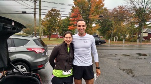 Erin ran the point-to-point half marathon on little training like a champ