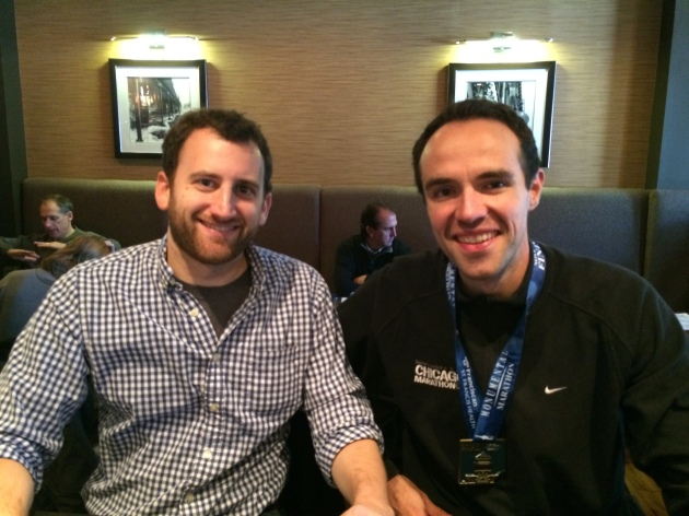 Ryan and I, finishers at Bru Burger Bar