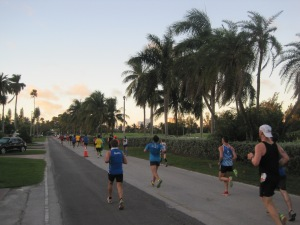 Mile 8: Golf courses and palm trees