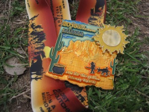 2015 Lost Dutchman Marathon Finisher's Medal