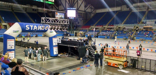The interior of the Fargodome, 40 minutes before the start