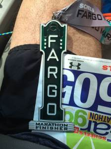 The 2015 medal is modeled after the vertical sign of the historic Fargo Theater