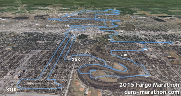 2015 Fargo Marathon Google Earth Rendering
