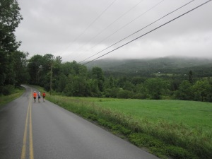 Mile 17, the downhill begins