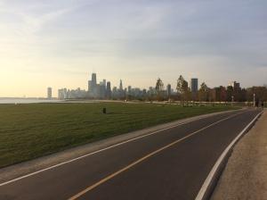 Lakeshore & Fullerton; Chicago skyline